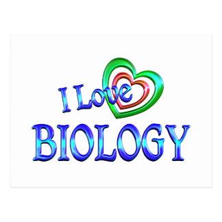 I Love Biology Postcard