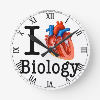 I Love Biology Round Clock