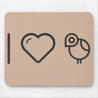 I Love Bird Houses Mouse Pad