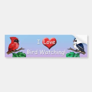 I Love Bird Watching Bumper Sticker