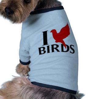 I Love Birds Pet Tee