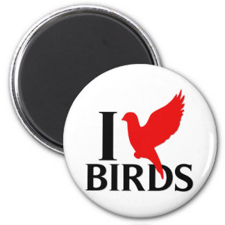 I Love Birds Magnet