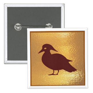 I love Birds - Medal Icon Gold Base Pins