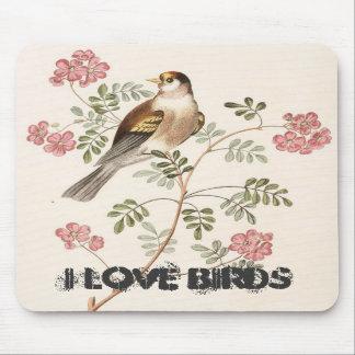 I Love Birds Mouse Mats