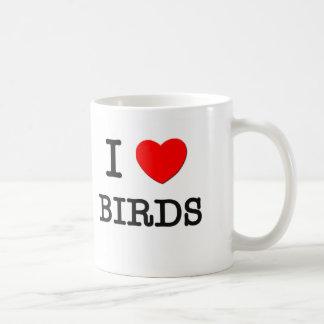 I Love BIRDS Coffee Mugs