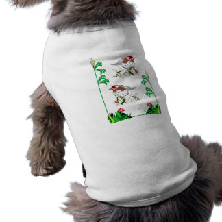 I love birds sleeveless dog shirt