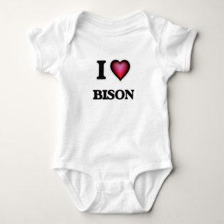 I Love Bison Baby Bodysuit