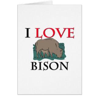 I Love Bison Card