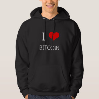 I Love Bitcoin - Crypto Currency Traders Hoodie