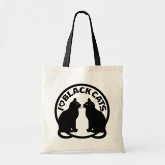 I LOVE BLACK CATS BUDGET TOTE BAG