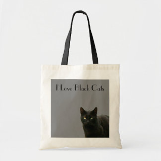 I Love Black Cats - Sophisticated Black on Grey