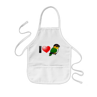 I Love Black-headed Parrots Kids Apron