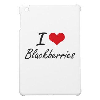 I Love Blackberries Artistic Design Case For The iPad Mini