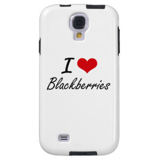 I Love Blackberries Artistic Design Galaxy S4 Case