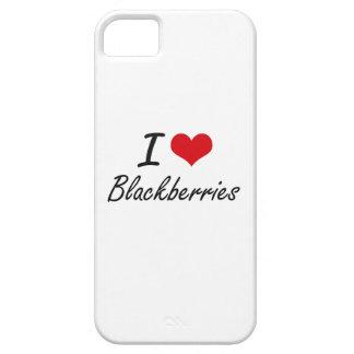 I Love Blackberries Artistic Design iPhone 5 Covers