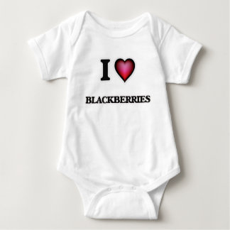 I Love Blackberries Baby Bodysuit