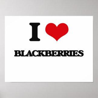 I Love Blackberries Print