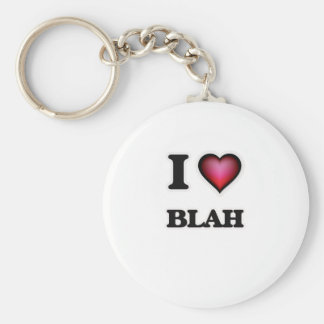 I Love Blah Key Ring