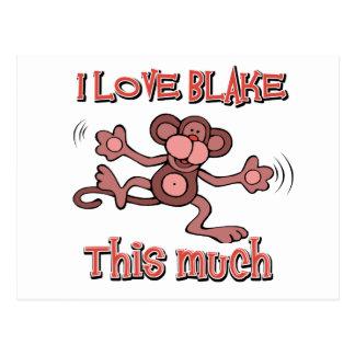 I love Blake Postcard