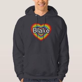 I love Blake: rainbow heart Hoodie
