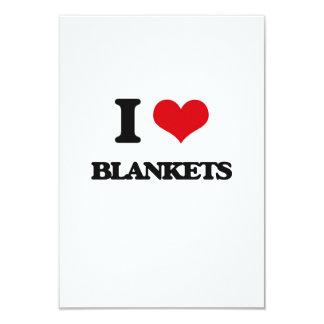 "I Love Blankets 3.5"" X 5"" Invitation Card"