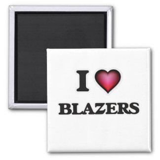 I Love Blazers Square Magnet