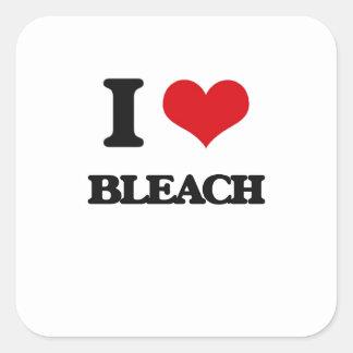 I Love Bleach Square Sticker