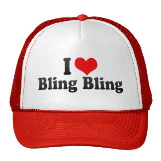 I Love Bling Bling Trucker Hats