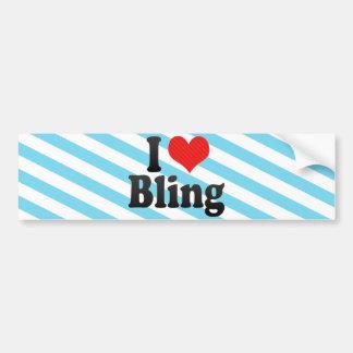 I Love Bling Bumper Sticker