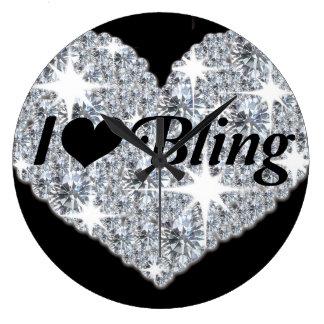 I love bling clock