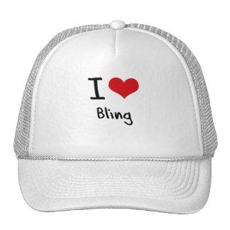 I Love Bling Mesh Hat
