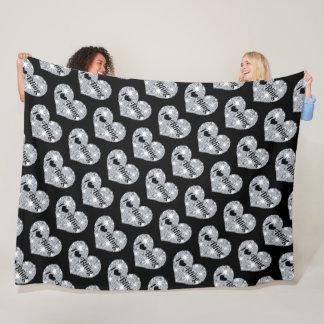 I love Bling Large Fleece Blanket