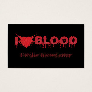 I Love Blood Business Card