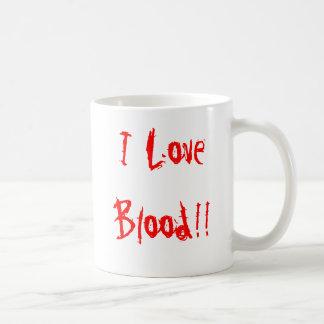 """I Love Blood!!"" Mug"