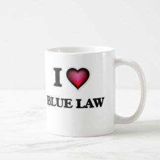 I Love Blue Law Coffee Mug