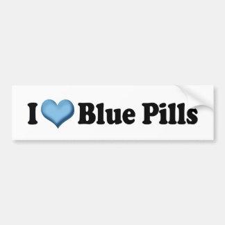 I Love Blue Pills Bumper Sticker