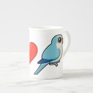 I Love Blue Quakers Bone China Mug