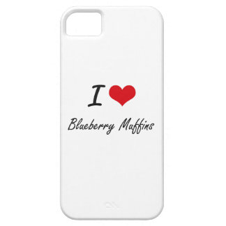 I Love Blueberry Muffins artistic design Case For The iPhone 5