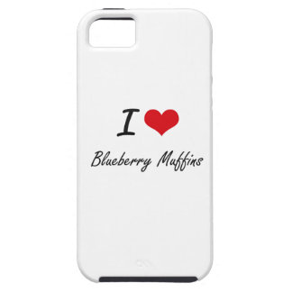 I Love Blueberry Muffins artistic design iPhone 5 Cover