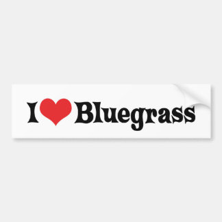 I Love Bluegrass Bumper Sticker