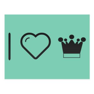 I Love Blur Crowns Postcard