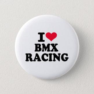 I love BMX Racing 6 Cm Round Badge
