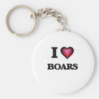 I Love Boars Key Ring