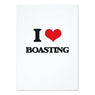 "I Love Boasting 5"" X 7"" Invitation Card"