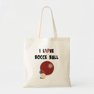 I Love Bocce Ball Tote Bag