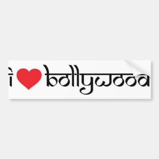 I love Bollywood bumper stickers