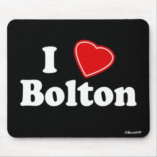 I Love Bolton Mouse Pad