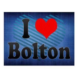 I Love Bolton, United Kingdom Postcard