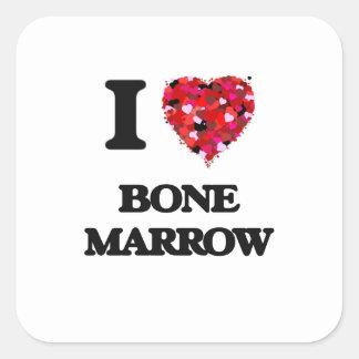 I Love Bone Marrow Square Sticker