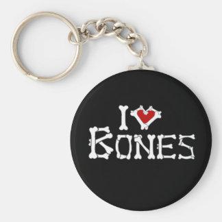 I Love Bones Key Ring